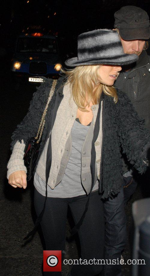 Sienna Miller at the Groucho Club