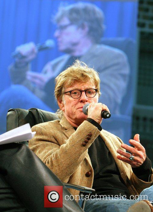 Robert Redford speaking at the GSMA Mobile Backstage...