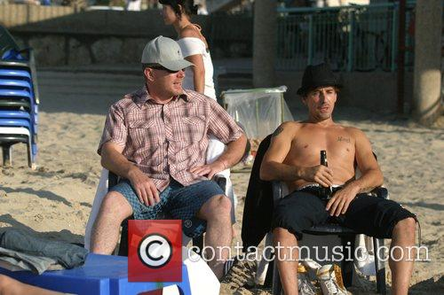 Relaxing on a Tel Aviv, Israel beach with...