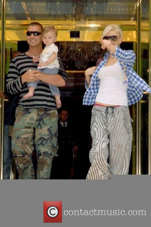 Gwen Stefani and husband Gavin Rossdale with son...