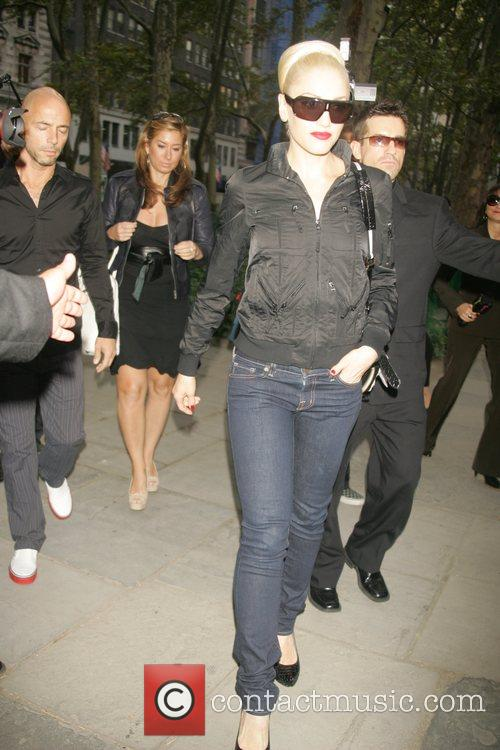 Gwen Stefani arrives in Bryant Park for the...