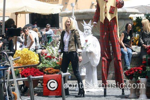 Gwyneth Paltrow filming an advert in Field de...