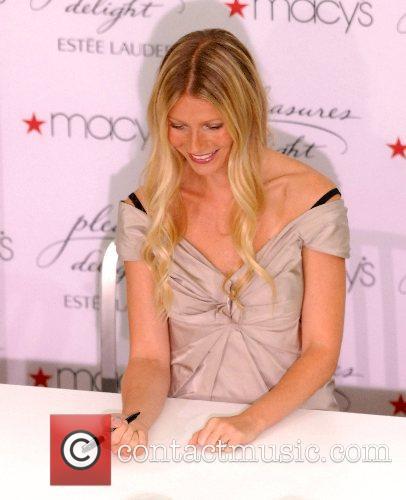 Gwyneth Paltrow promoting her new perfume ' Pleasure...