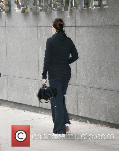 Megan Mullally leaving a Midtown gym New York...