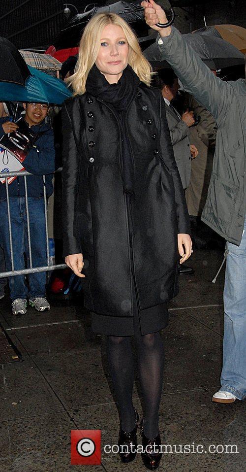 Gwyneth Paltrow and David Letterman 2