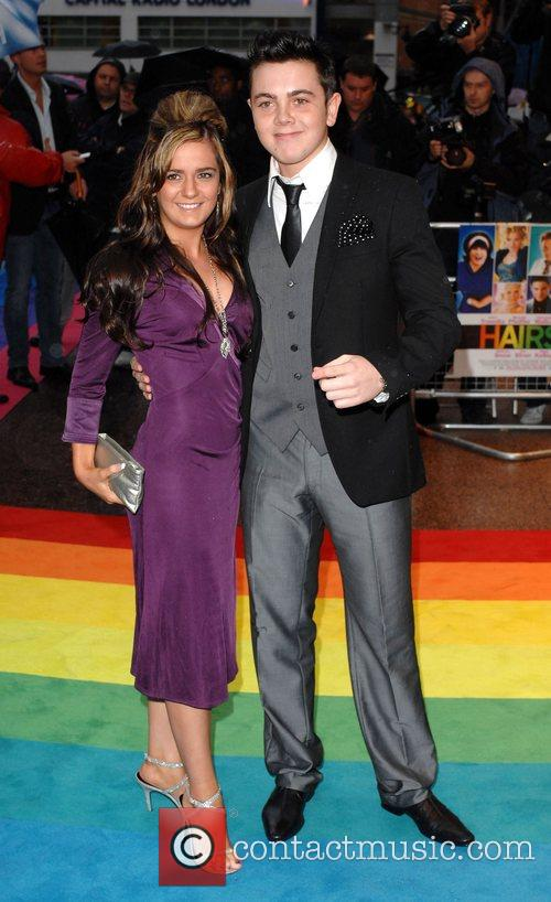 Raymond Quinn and guest UK Premiere of 'Hairspray'...