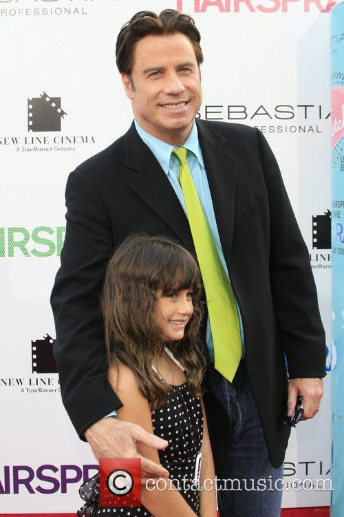 John Travolta and daughter Los Angeles Premiere of...