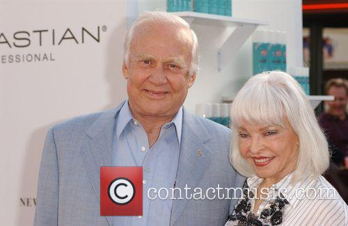 Buzz Aldrin and wife Los Angeles Premiere of...