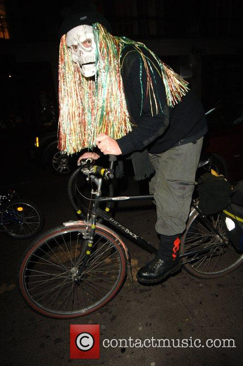 Halloween Revellers Dressed As Ghosts and David Letterman 2