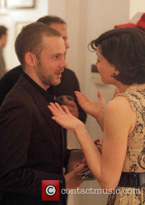 Dominic Monaghan and guest attending a private party...