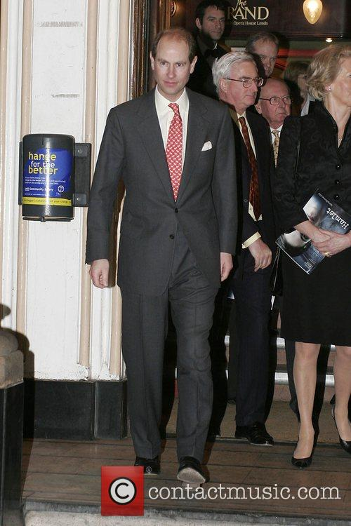 Prince Edward leaving Leeds Grand Theatre after watching...