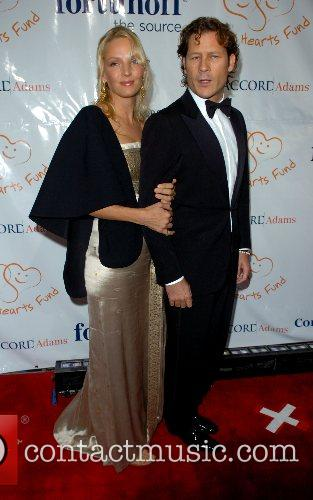Uma Thurman and Arpad Busson Petra Nemcova's Happy...