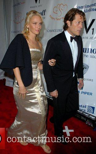 Uma Thurman and Arpad Busson 1