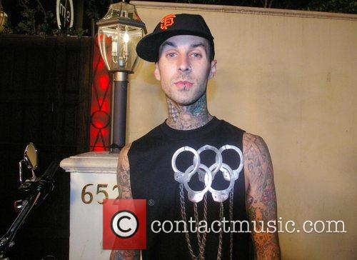 Travis Barker outside Boulevard 3 at a party...