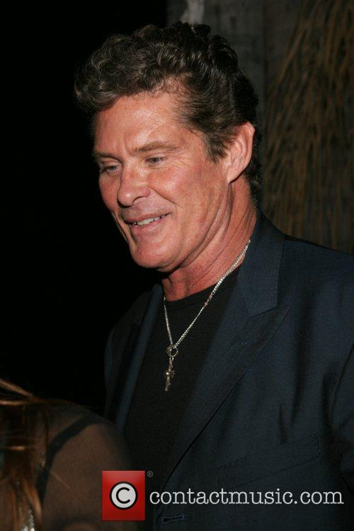 David Hasselhoff outside Boulevard 3 at a party...
