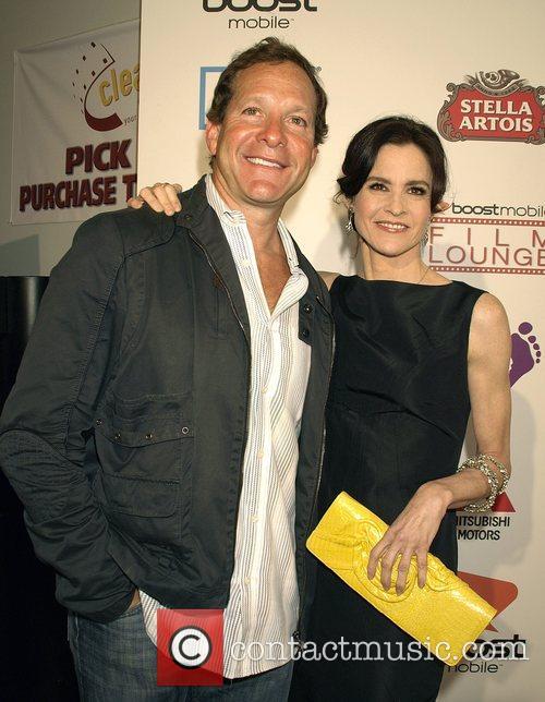 Steve Guttenberg and Ally Sheedy Premiere of 'Harold'...