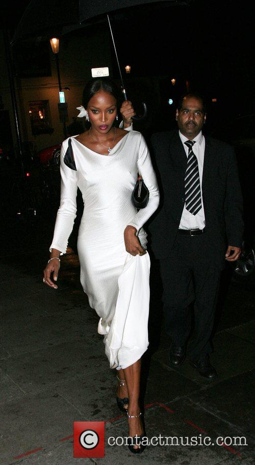 Naomi Campbell Marchesa Autumn 2007 Collection preview party...