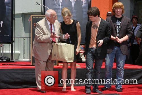 Johnny Grant, Rupert Grint, Daniel Radcliffe, and Emma...