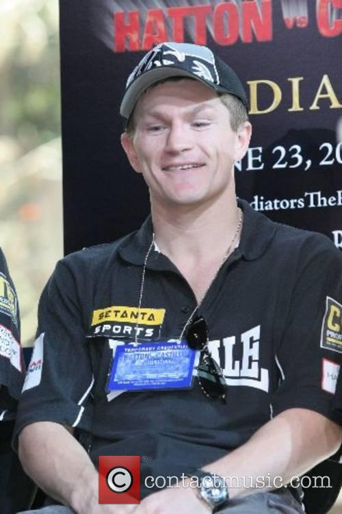 Ricky 'Hitman' Hatton at the press conference whare...