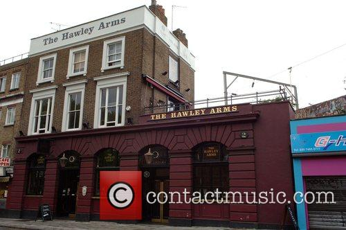 General view of The Hawley Arms Pub in...