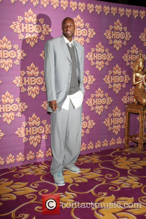 Lamar Odom HBO's Post Award Reception following the...