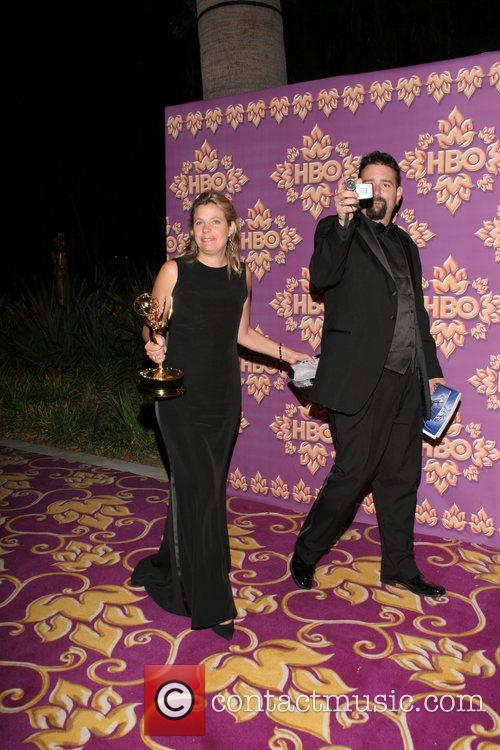 Clara George and Guest HBO's Post Award Reception...