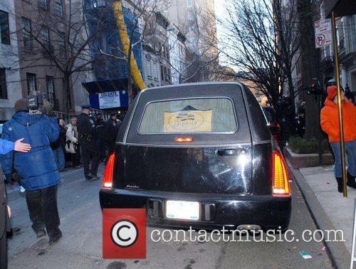 The casket of actor Heath Ledger is taken...