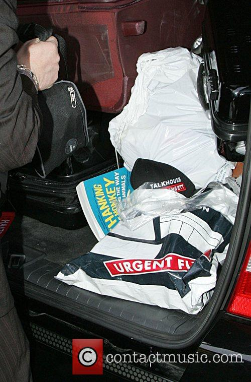 Heather Mills' luggage, including the book 'Thanking the...