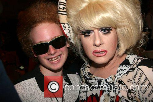 Lady Bunny and guest Mercedes-Benz Fashion Week New...