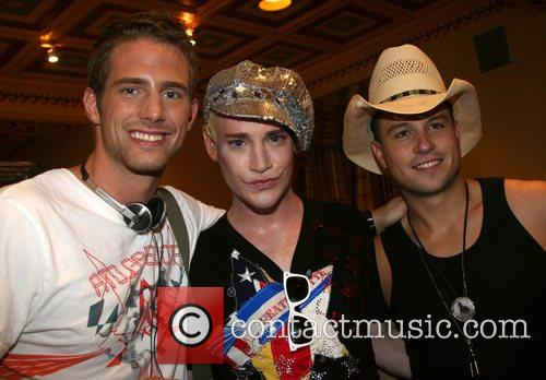 Richie Rich, Traver Rains and guest Mercedes-Benz Fashion...
