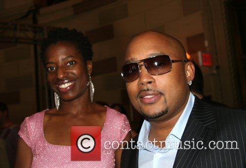 Daymond John and guest Mercedes-Benz Fashion Week New...