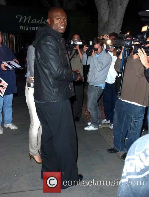 Heidi Klum and Seal leaving Madeo Restaurant on...