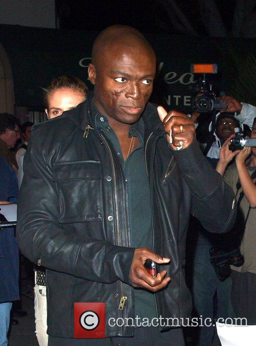 Seal leaving Madeo Restaurant on Beverly Blvd Los...