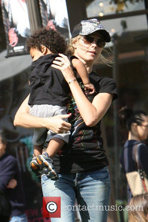 Heidi Klum, family at the Grove and West Hollywood 8