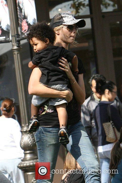 Heidi Klum, family at the Grove and West Hollywood 15