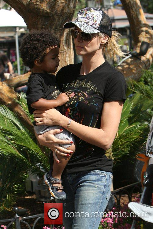 Heidi Klum, family at the Grove and West Hollywood 11