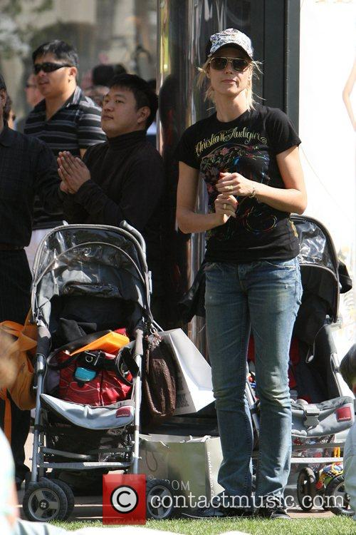 Heidi Klum, family at the Grove and West Hollywood 16