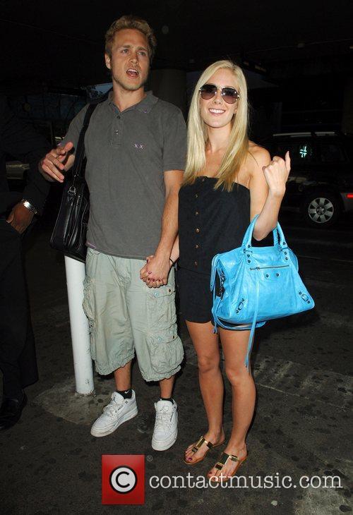Spencer Pratt and Heidi Montag arrive at LAX...
