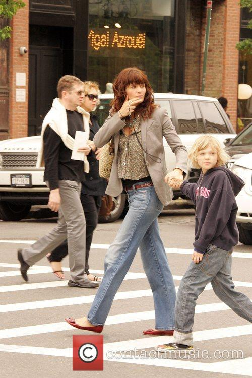Helena Christensen and son Mingus Lucien out and...