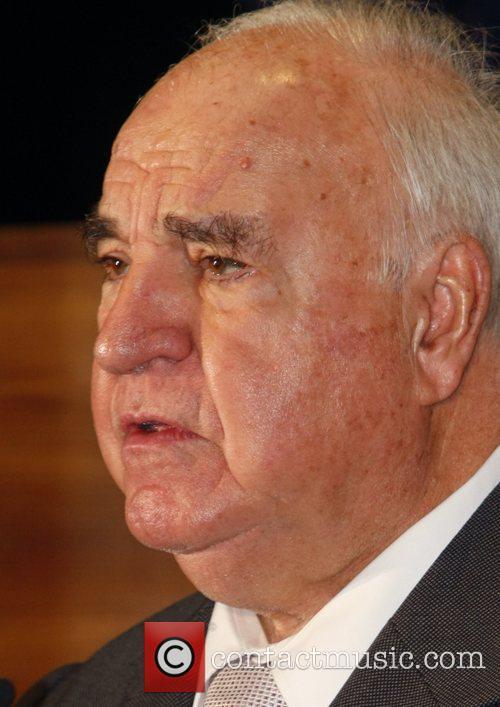 Former German chancellor Helmut Kohl at Springer Passage...