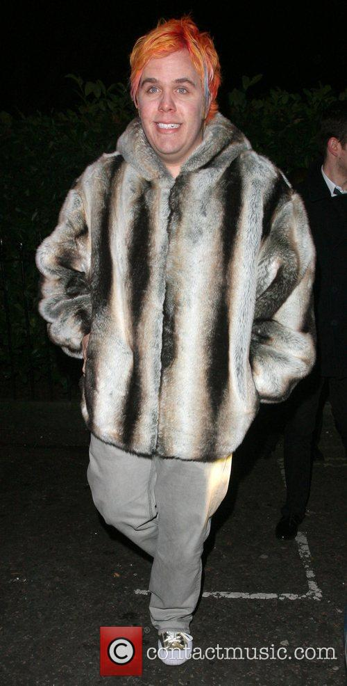Perez Hilton leaving the Universal records afterparty for...