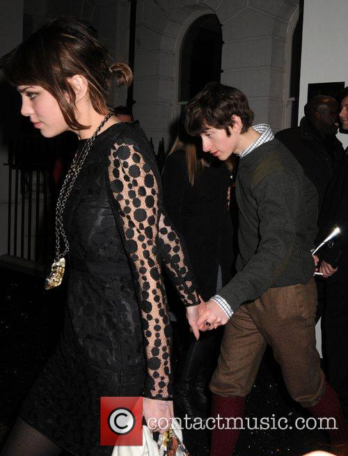 Alexa Chung and Alex Turner leaving the Universal...