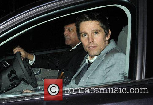Jason Orange leaving the Universal records afterparty for...