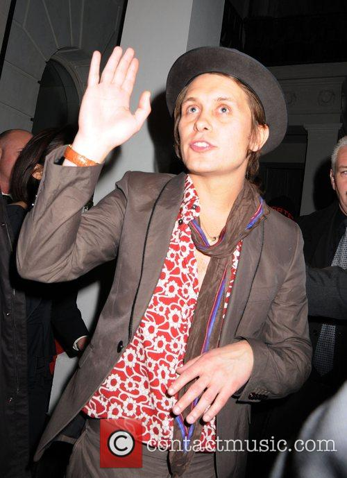 Mark Owen leaving the Universal records afterparty for...