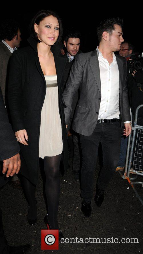 Matt Willis and Emma Griffiths  leaving the...
