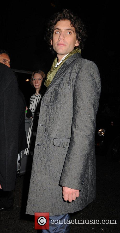Mika leaving the Universal records afterparty for the...
