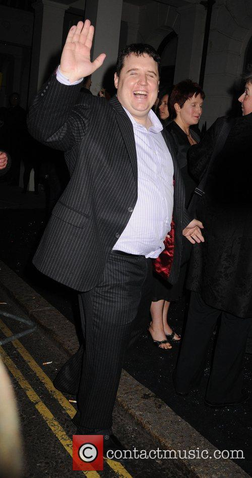 Peter Kay leaving the Universal records afterparty for...