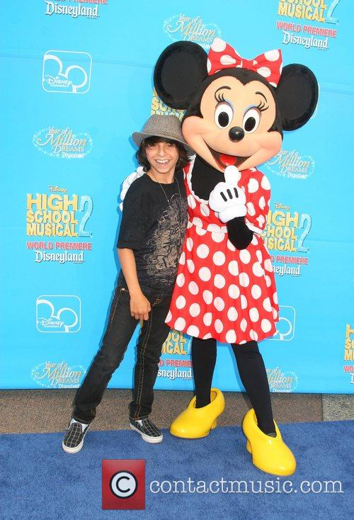 Moises Arias and Minnie Mouse Disney's 'High School...
