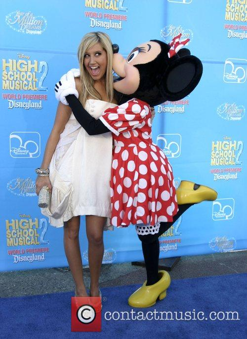 Ashley Tisdale and Minnie Mouse