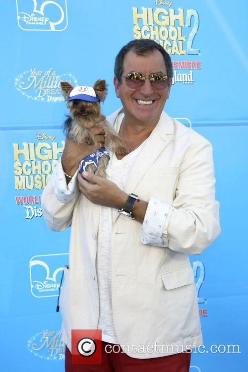 Kenny Ortega and his dog